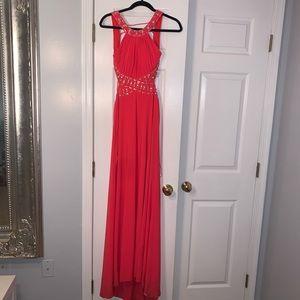 Stunning pink prom dress
